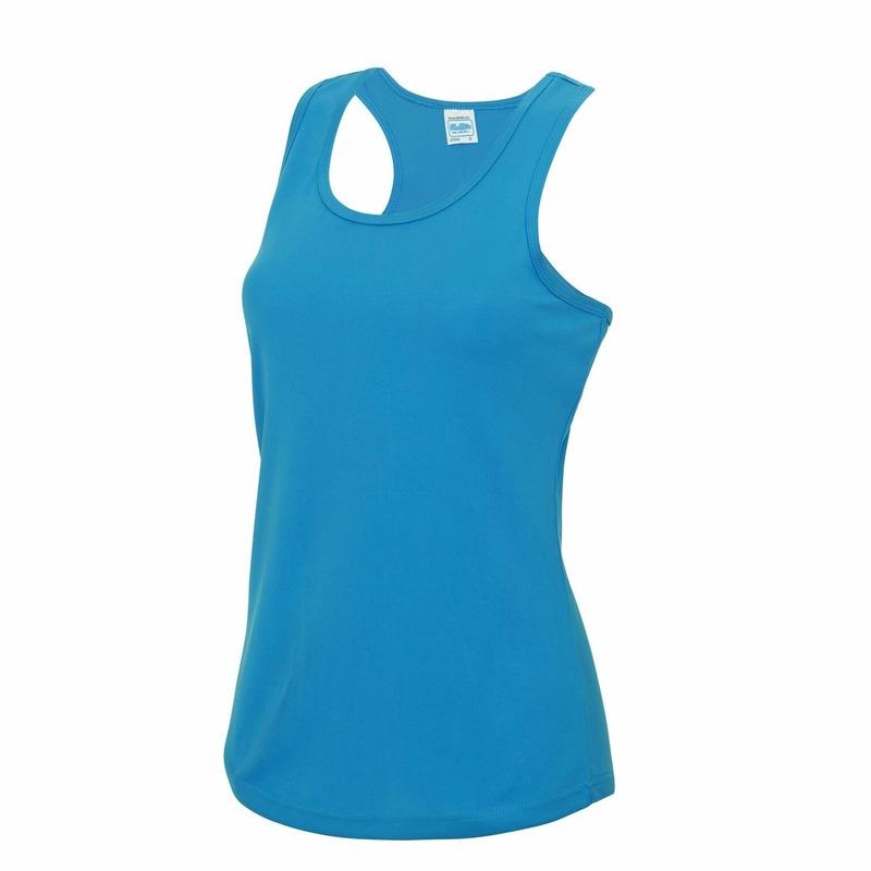 Sportkleding sneldrogend blauwe dames hemd