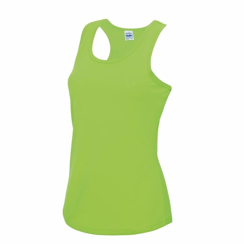 Sportkleding sneldrogend neon groen dames hemd