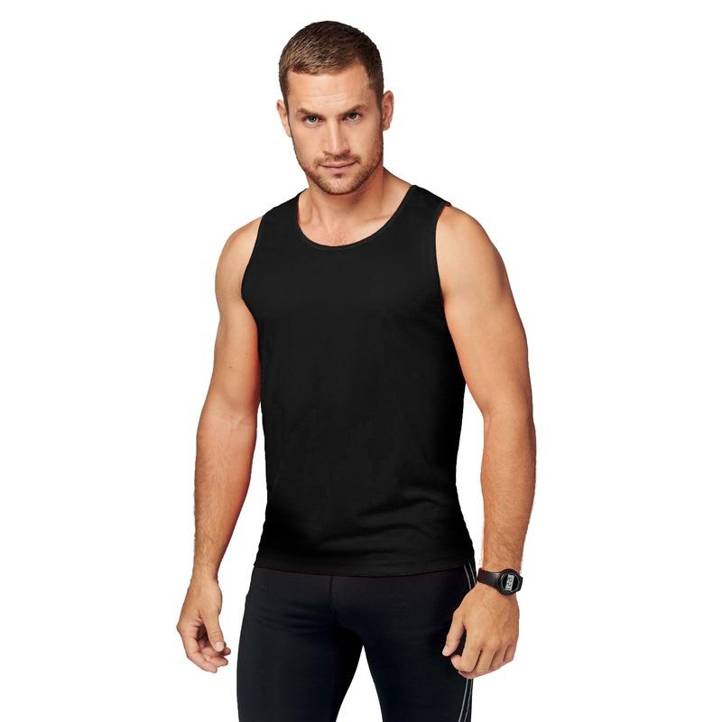 Sportkleding sneldrogend zwarte singlet voor heren