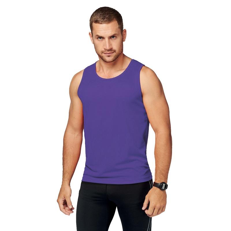 Sportkleding sneldrogend paars singlet voor heren