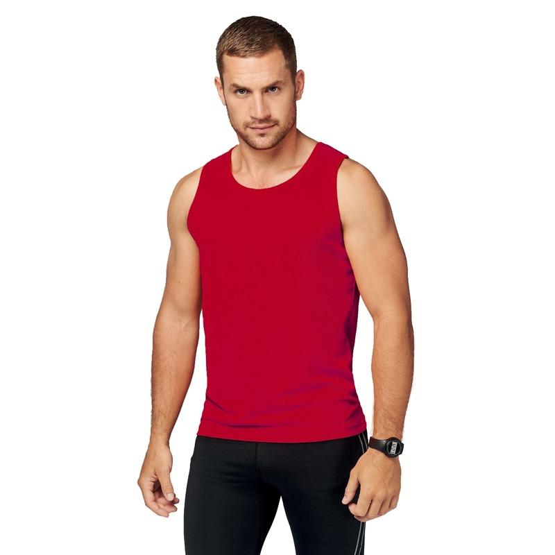 Sportkleding sneldrogend rode singlet voor heren