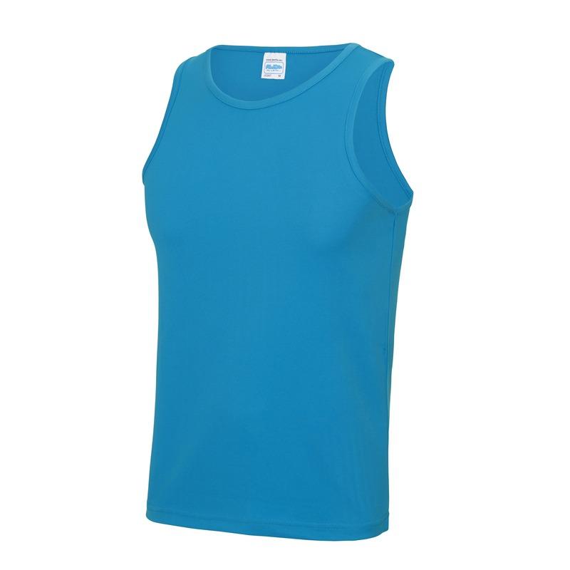 Sportkleding sneldrogende mouwloze shirts blauw voor mannen heren