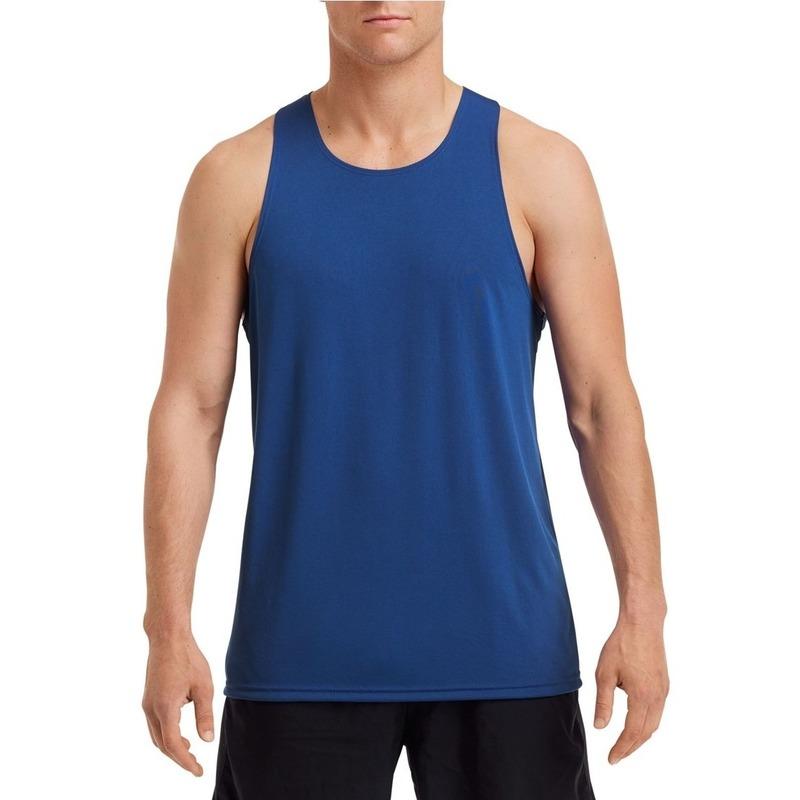 Sportkleding sneldrogend kobalt blauw voor heren