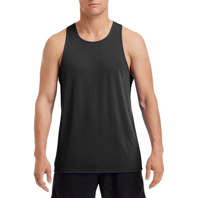 Sportkleding sneldrogend zwart voor heren